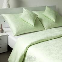 Bohema Szulák veba damaszt ágynemű zöld, 140 x 200 cm, 70 x 90 cm
