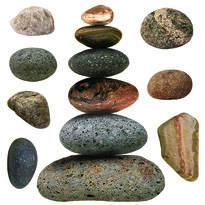 Naklejka Stones, 30 x 30 cm