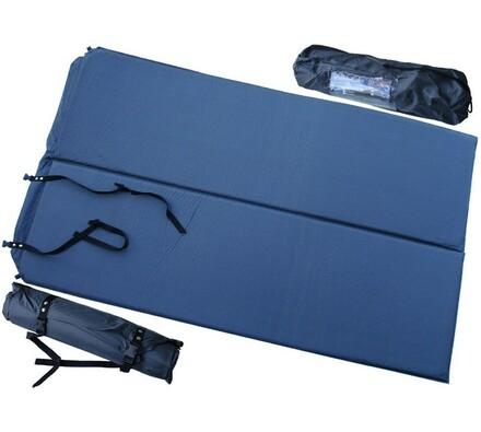 Samonafukovací karimatka pro 2 osoby 186 x 110 x 2,5 cm, tmavě šedá