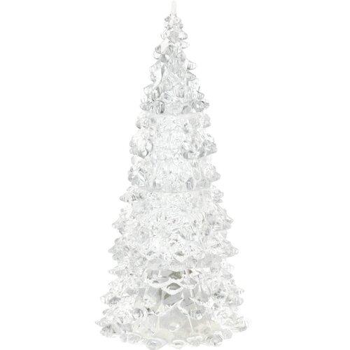 Vianočná LED dekorácia Xmas tree farebná, 17 cm