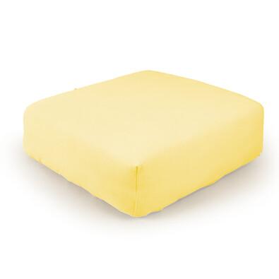 Prostěradlo froté, žlutá, 90 x 190 cm