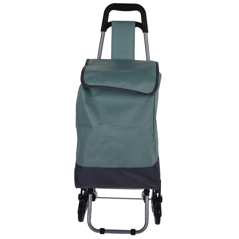 Nákupná taška na kolieskach Mindelo, zelená