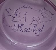 Keramická miska Trixie s ležící kočkou 300ml/11cm