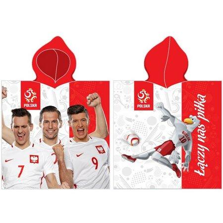 Detské pončo futbal PZPN, 50 x 100 cm
