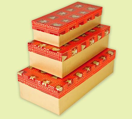 Dárkové krabičky, oranžová