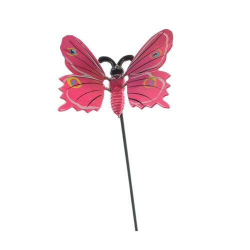 Dekorácia motýlik, ružová