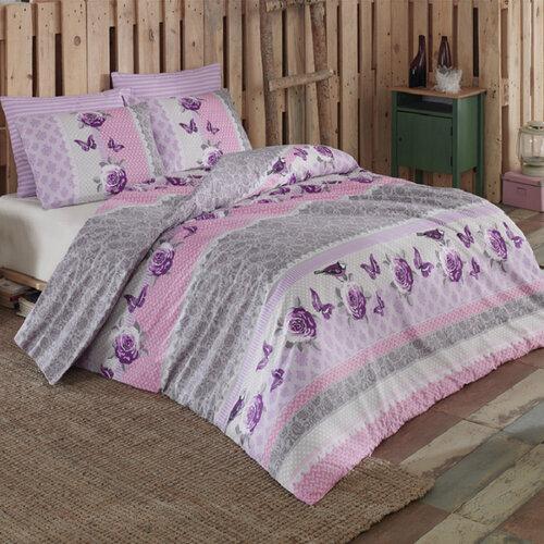 Tip Trade Bavlnené obliečky Sofya Lila, 140 x 200 cm, 70 x 90 cm