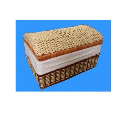 Truhla prádelní kapradina-kukuřice rozměr 60x33x33, hnědá, 60 x 33 x 33 cm