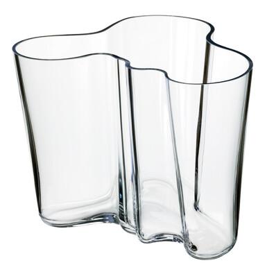 Váza Alvar Aalto 16 cm, čiré sklo