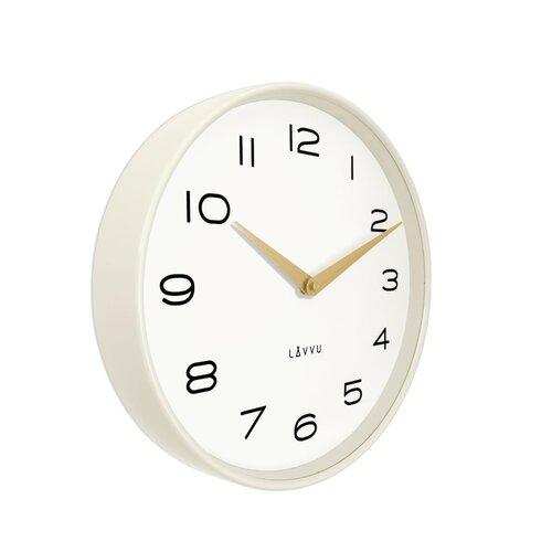Lavvu LCT1212 Kovové hodiny Living, bílá a zlatá