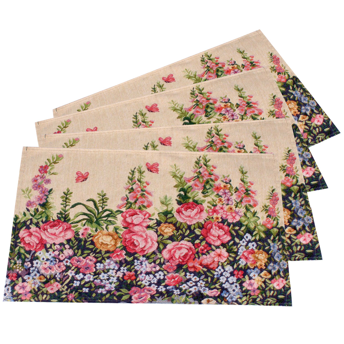 Dakls Prostírání Flowers, 33 x 48 cm, sada 4 ks