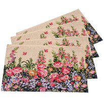 Suport farfurie Flowers, 33 x 48 cm, set 4 buc.