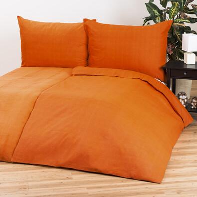 Bavlněné povlečení Guru UNI oranžová, 140 x 200 cm, 70 x 90 cm