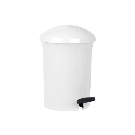 Aldotrade Pedálový odpadkový koš Dust Bin 8,1 l, bílá