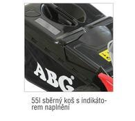 Benzínová rotační sekačka s pojezdem ABG 575 4 v 1, červená
