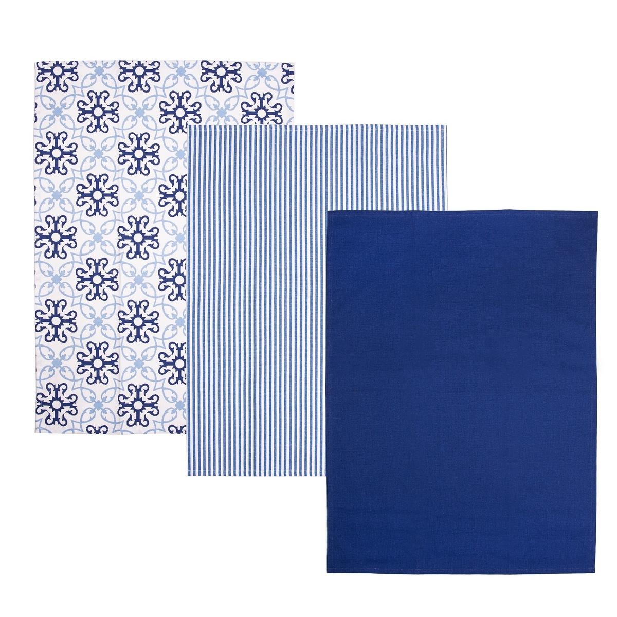Poza Servet de bucatarie Blue Shapes, 50 x 70 cm,set 3 buc.
