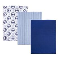 Kuchyňská utěrka Blue Shapes, 50 x 70 cm, sada 3 ks