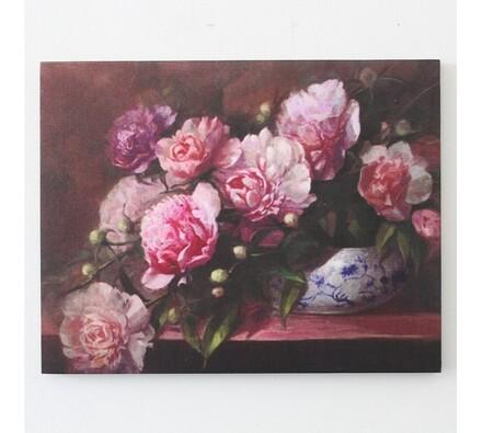 Obraz rozkvetlé květiny, vícebarevná, 35 x 45 cm