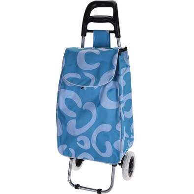 Trolley kerekes bevásárlótáska, kék