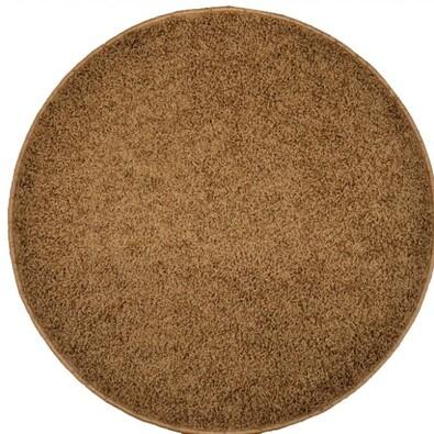 Kusový koberec Elite Shaggy hnědá, průměr 120 cm