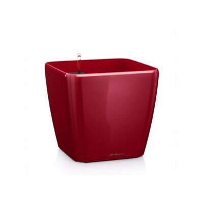Lechuza Quadro LS 21 plastový květináč samozavlažovací červený