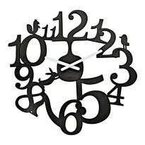 Koziol Zegar ścienny Pl:P czarny, śr. 45 cm