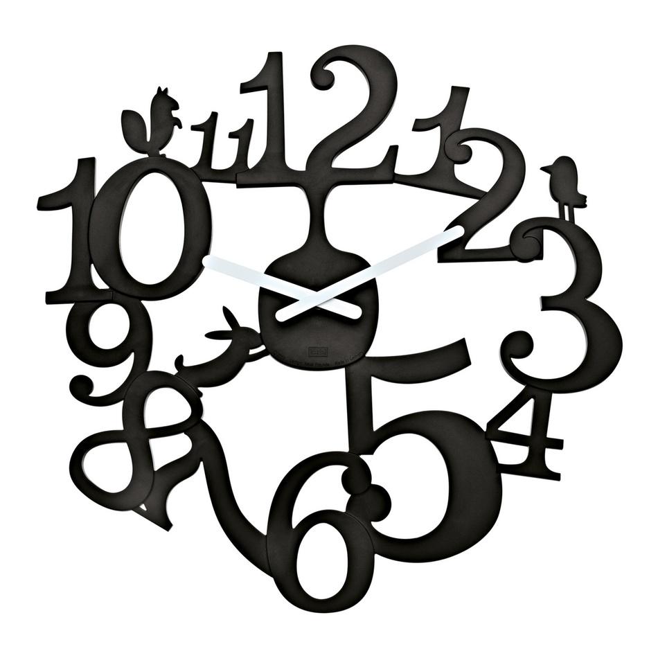 Koziol Nástěnné hodiny PI:P černá, pr. 45 cm