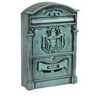 Cutie poștală din oțel Terni cu partea frontală de aluminiu BK.301.ZEP, verde