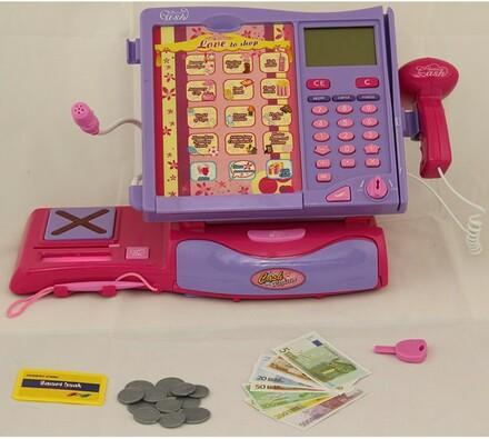 Registrační pokladna pro děti, fialová