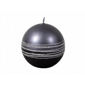 Vánoční svíčka Lumina Silver koule, černá
