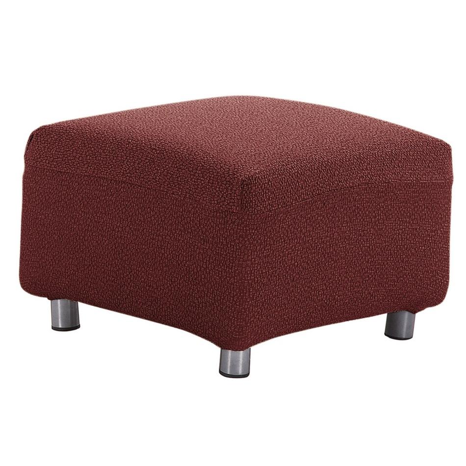 Forbyt Multielastický potah na taburet Petra červená, 40 - 60 cm