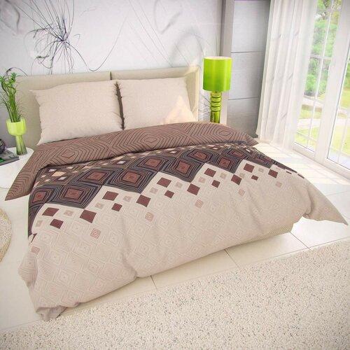 Kvalitex Coffee pamut ágynemű, bézs, 200 x 200 cm, 2 db 70 x 90 cm