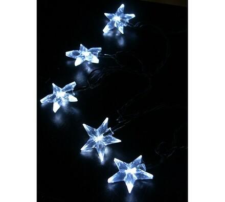 Ozdoba LED Solight hvězdy 20 LED 3 m, bílá