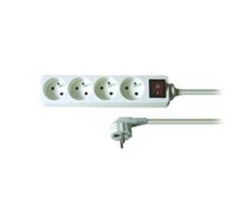 Solight Prodlužovací kabel s vypínačem bílá, 2 m