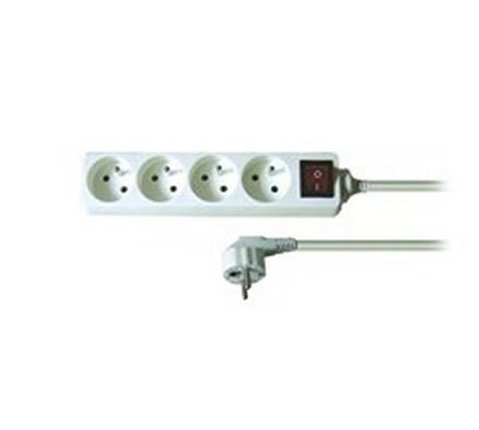 Solight Prodlužovací kabel s vypínačem 4 zásuvky délka 2 m bílý