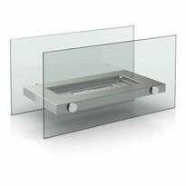 Biokominek stołowy szary, 34 x 16 x 17 cm