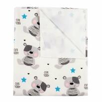 New Baby Cute Teddy vízálló flanel alátét fehér, 57 x 47 cm