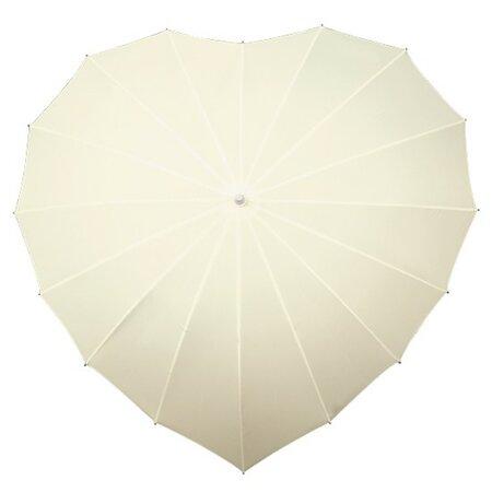 Dámský holový deštník srdce Heart - smetanový