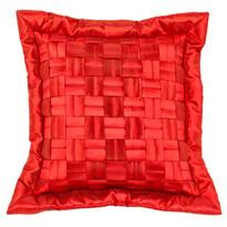Rácsos párnahuzat, piros, 45 x 45 cm