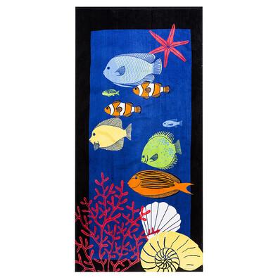 Plážová osuška Podmořský svět, 70 x 150 cm