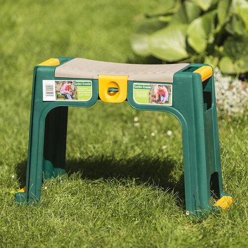 Kerti térdeplő szék, zöld