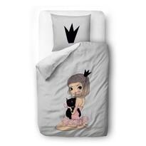 Butter Kings Satynowa pościel dziecięca do łóżeczk a Princess Baletka, 100 x 130 cm, 40 x 60 cm