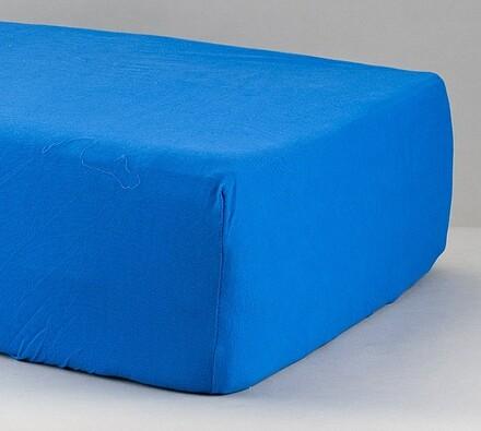 Prostěradlo žerzej, tmavě modré, 90 x 200 cm