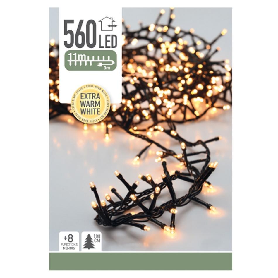 Cluster karácsonyi LED fényfüzér, 560 mini LED