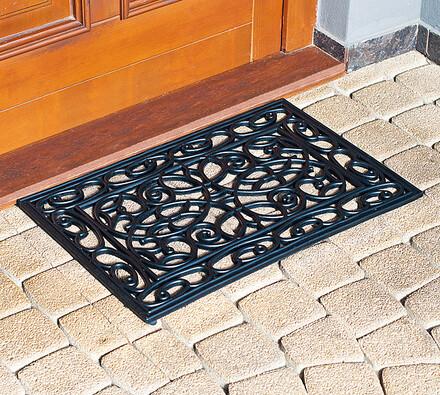 Venkovní rohožka gumová, 40 x 60 cm, černá, 40 x 60 cm