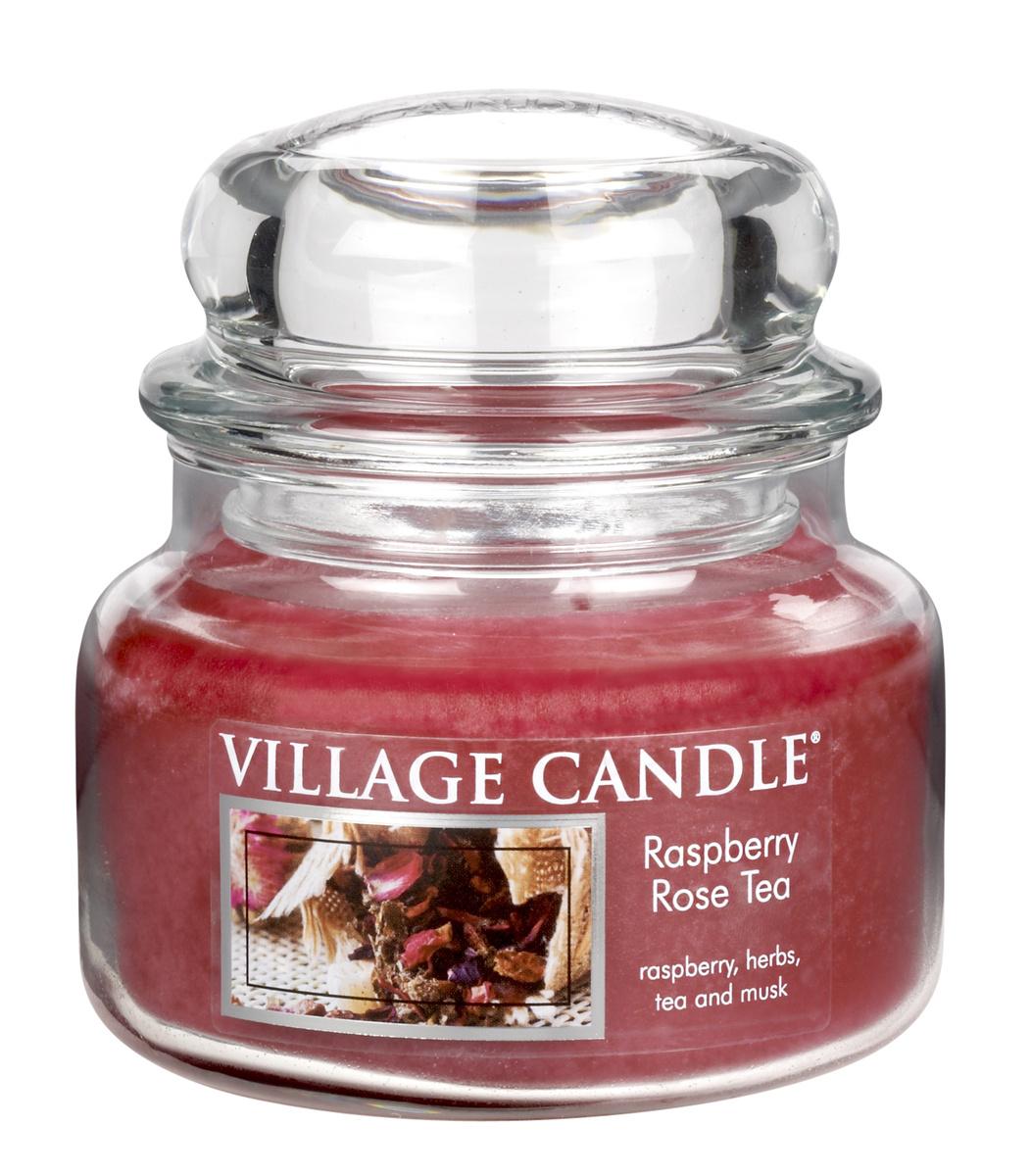 Village Candle Vonná svíčka ve skle, Maliny a čajová růže - Raspberry Rose Tea, 269 g, 269 g
