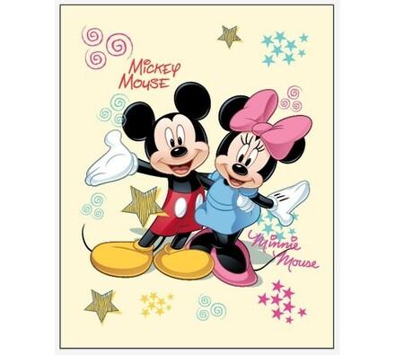Dětská deka Mickey a Minnie, 120 x 150 cm