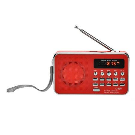 Bravo B-6039 digitálne rádio Sam, červená