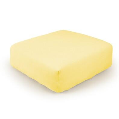 Prostěradlo žerzej žlutá, 160 x 200 cm