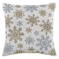 Snowflakes párnahuzat fehér, 40 x 40 cm